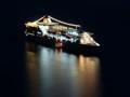 Cruise Ship in Santorini Caldera
