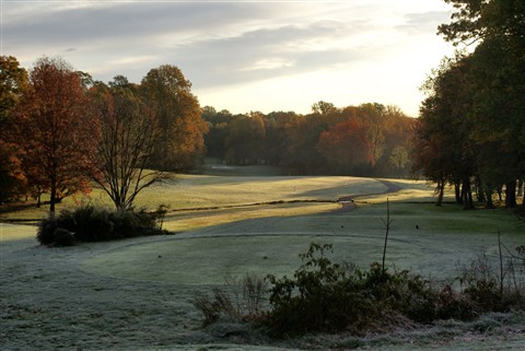 From the 2nd tee covered in frost