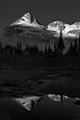 Mountain, Light, Reflection