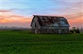 Stone Barn Sunset