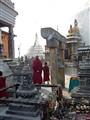 Religion & commerce, Swayambunath, Kathmandu