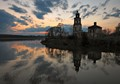 Old church on the river Volga, Russia