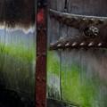 Weathered gate at Himeji