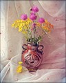 Vase with wild flowers