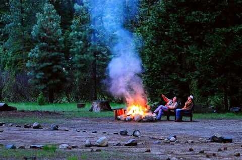 Evening Campfire at the Dardenelle Campground