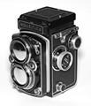 Old Rolleiflex camera.