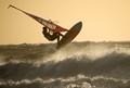Sunlit surfer