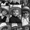 Amish Boys in Hats BW