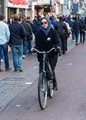 Amsterdam bicycle commuter
