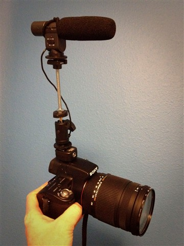 Mic riser for Sony a33