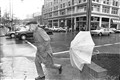 Man Chased by Umbrella
