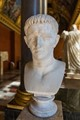 Bust of Roman emperor Claudius in the Louvre