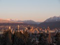 vancouver sunrise from qe park
