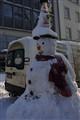 Snowman in Dresden