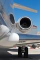 Business jet at Malta Airport terminal