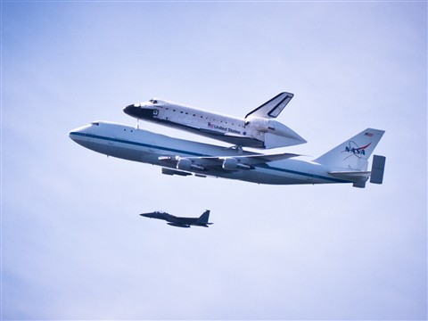 Space Shuttle and Escort