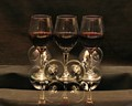 Red wine in stemware