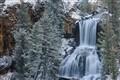 Undine Falls With Snow