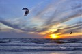 Kite Surfing on Lake Michigan