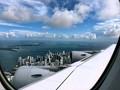 miami from plane porthole