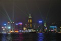 Light show on Hong Konh Island from Kowloon waterfront