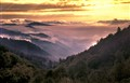 classic sunset at newfound gap, great smoky mountains np