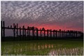 U-Bein Bridge in Amarapura (Myanmar)