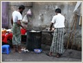 Street bakers in Yangon