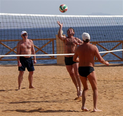 Volley Ball by the Red Sea
