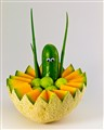 Cucumber in the cantalope boat