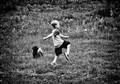 kickin a ball