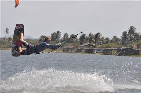 Kiteboarding jump