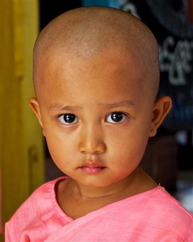 Myanmar Baby Nun