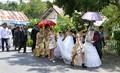 Wedding church march western style in Sulawesi