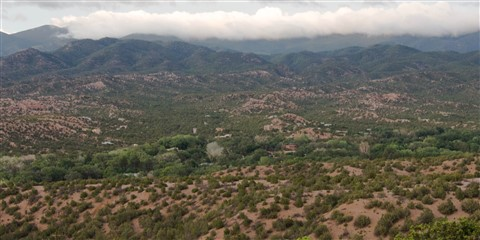 View of Tesuque, NM from the Santa Fe 0pera