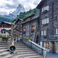 Old Swiss mountain town