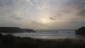 enjoying the evening on the beach
