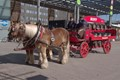 Horse powered beer transport