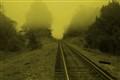 Rails in Fog 1 Sepia