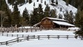 Wyoming Barn in Winter