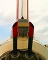 B-17 Flying Fortress tail gun view.  Air show in Denton Texas