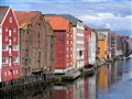 Historic warehouses, Trondheim, Norway