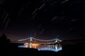 Lion's Gate Bridge at night