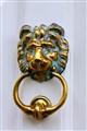 Golden Lion door knocker