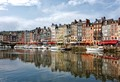 A small protected harbor in France.  Lined with seafood restaurants and art galleries