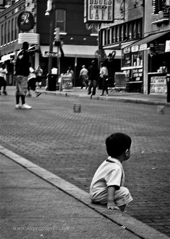 Boy on curb (1 of 1)