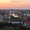 Piazzale MIchelangelo, Florence: Sunset, Arno River and Ponte Vecchio