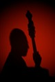 Bass player silhoutte.