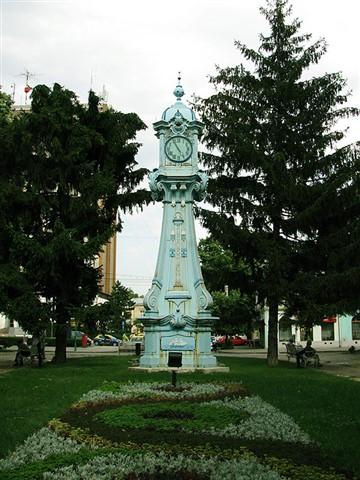 Clock in downtown Braila