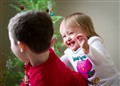 Grandkids Playing on Christmas Morning